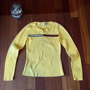 Tommy Hilfiger vintage 90s yellow sweater.